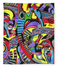 Three Disguises Of An Abstract Thought Fleece Blanket