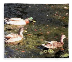 Three Ducks Fleece Blanket