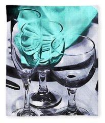 Three Glass Illusion Fleece Blanket