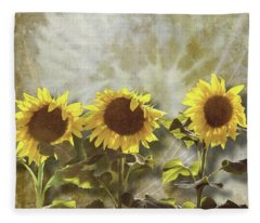 Three In The Sun Fleece Blanket