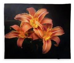 Three Lilies Fleece Blanket