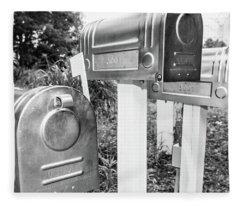 Three Mailboxes Fleece Blanket