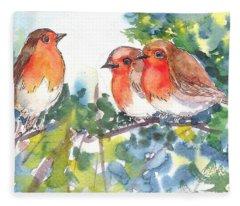 Three Robins Fleece Blanket