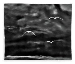 Three Seagulls Fleece Blanket