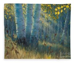 Three Sisters - Spirit Of The Forest Fleece Blanket