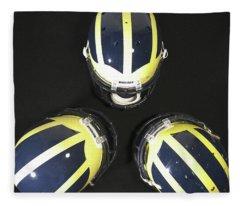 Three Striped Wolverine Helmets Fleece Blanket
