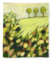 Green Tree Fleece Blankets
