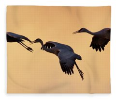 Fleece Blanket featuring the pyrography Three's Comapany by Michael Lucarelli