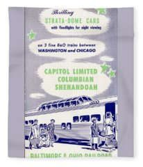 Thrilling Strata-dome Cars Fleece Blanket