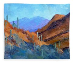 Through Gates Pass Fleece Blanket