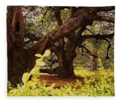 Through The Ages Fleece Blanket