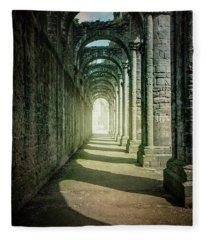 Through The Colonnade Fleece Blanket