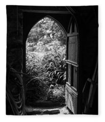Fleece Blanket featuring the photograph Through The Door by Clare Bambers