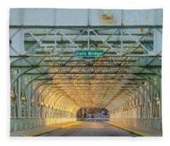 Through The Falls Bridge - East Falls Philadelphia Fleece Blanket