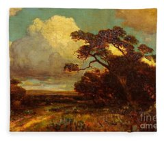 Through The Hills In Southwest Texas 1911 Without Border Fleece Blanket