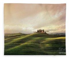 Through The Mists Of Dawn Fleece Blanket