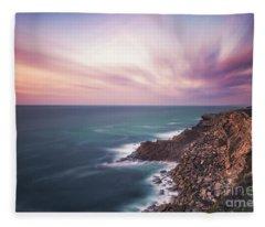Through The Rays Of Infinity Fleece Blanket