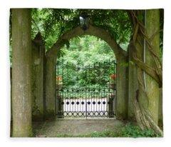 Through The Tuscan Gate Fleece Blanket