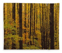 Through The Yellow Veil Fleece Blanket