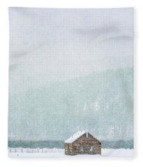 Through Winter's Air Fleece Blanket