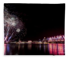 Thunder Over Louisville Fleece Blanket
