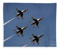 Thunderbirds Dsc5846 Fleece Blanket
