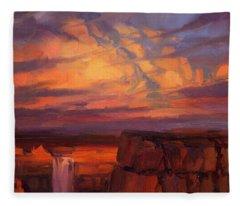 Thundercloud Over The Palouse Fleece Blanket