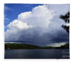 Thundershower Over Slim Lake Fleece Blanket