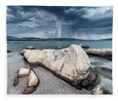 Thunderstorm  Fleece Blanket