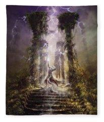 Thunderstorm Wizard Fleece Blanket
