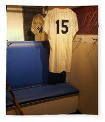 New York Yankee Captian Thurman Munson 15 Locker Fleece Blanket