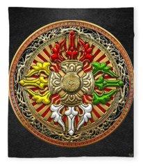 Tibetan Double Dorje Mandala Fleece Blanket