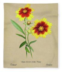 Tickseed Botanical Fleece Blanket