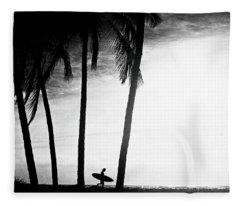 Ticla Palms Fleece Blanket