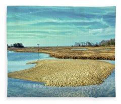 Tidal Island In The Wetlands Fleece Blanket