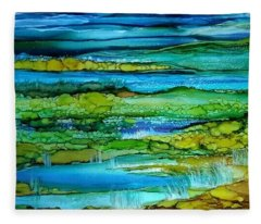 Tidal Pools Fleece Blanket