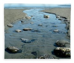 Fleece Blanket featuring the photograph Tidal Pools by 'REA' Gallery