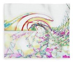 Tidal Wave Fleece Blanket