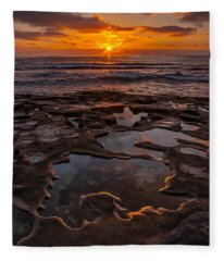 Tidepools At La Jolla Fleece Blanket