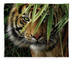 Tiger - Emerald Forest Fleece Blanket