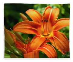 Tiger Lily Explosion Fleece Blanket