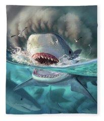 Tiger Sharks Fleece Blanket