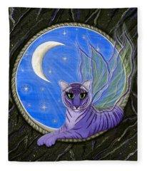 Tigerpixie Purple Tiger Fairy Fleece Blanket