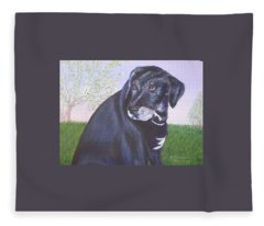 Tiko, Lovable Family Pet. Fleece Blanket