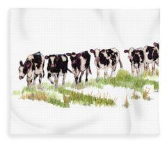 Till The Cows... Fleece Blanket