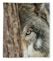 Timber Wolf Picture - Tw285 Fleece Blanket