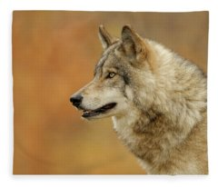 Timber Wolf Picture - Tw293 Fleece Blanket