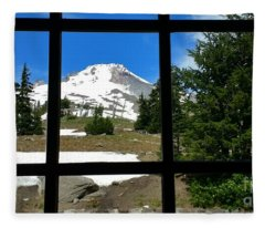 Timberline Lodge View Fleece Blanket