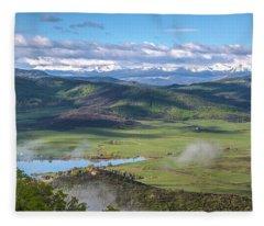 Timbers View  Fleece Blanket