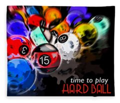 Time To Play Hard Ball Black Fleece Blanket